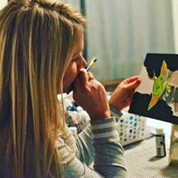 MAKE ART WITH STORMY Paso Robles' Virginia Peterson Elementary School transitional-kinder teacher Stormy Capalare is posting free online art lessons on YouTube to help get you and your kids through the quarantine. - PHOTO COURTESY OF STORMY CAPALARE