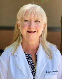CLOSED DOORS, REMOTE HELP Lynn Sayre-Carstairs of Coast Periodontics and Laser Surgery closed her office to the public on March 16, but continues to serve patients via telemedicine. - PHOTO COURTESY OF COAST PERIODONTICS AND LASER SURGERY