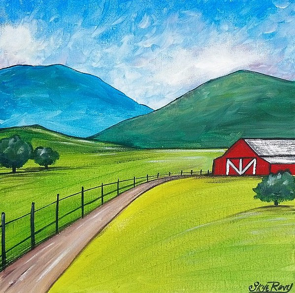 YOU CAN DO IT! Paint Along With Skye videos can show you how to make charming paintings like this bucolic scene. - IMAGE COURTESY OF SKYE PRATT