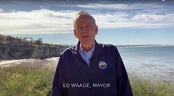 LIFE'S A BEACH In a video posted on May 1, Pismo Mayor Ed Waage asked tourists to stay away from Pismo Beach for now. - SCREENSHOT FROM YOUTUBE
