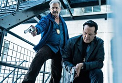 OLD-SCHOOL In Dragged Across Concrete, overzealous cops Brett Ridgeman (Mel Gibson, left) and Anthony Lurasetti (Vince Vaughn) find themselves suspended and decide to enter the criminal underworld and make a big score off a criminal. - PHOTO COURTESY OF UNIFIED PICTURES