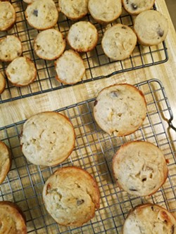 FAMILY FAVORITES Chocolate chip banana muffins have become a staple in our house since sheltering at home. - PHOTOS BY ANDREA ROOKS
