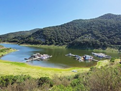 LOCALS ONLY Campgrounds at Lopez Lake, Santa Margarita Lake, and Oceano Memorial Park are reopened to SLO County residents only. - PHOTO COURTESY OF LOPEZ LAKE MARINA FACEBOOK PAGE