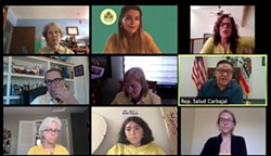 SHELTER FOR ALL On May 12, several key members of the Rent and Mortgage Relief for All Coalition met with Congressman Salud Carbajal (D-Santa Barbara) in a Zoom meeting to discuss HR 6515. - PHOTO COURTESY OF RENT RELIEF COALITION