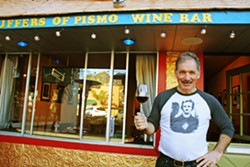 SUPPORT LOCAL Puffer's of Pismo (owner Charlie Puffer is pictured) is one of dozens of SLO County businesses participating in Left Coast T-Shirt's Here for Good campaign. - FILE PHOTO BY HAYLEY CAIN