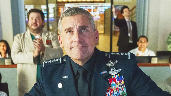 TOP DOG Steve Carrell stars as Gen. Mark R. Naird, the first commander of the new sixth branch of the U.S. military, Space Force, in Netflix's new comedy appropriately called Space Force—a sort of running joke about American idiocy. - PHOTO COURTESY OF 3 ARTS NETERTAINMENT