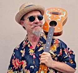 THE LEGEND! Long-running Live Oak Music Festival emcee Joe Craven will join KCBX's Neal Losey on June 19 to kick off the virtual Live Oak on the Radio fest on 90.1FM. The virtual fest runs through June 21, with archival nuggets and livestreams. - PHOTO COURTESY OF JOE CRAVEN