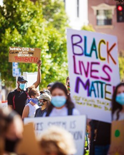 DEMANDING CHANGE SLO and Morro Bay both declared racism a public health emergency in response to demands that R.A.C.E. Matters SLO made in the wake of protests against police racism and brutality. - FILE PHOTO BY JAYSON MELLOM