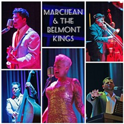 SWINGERS! Jump blues and swinging R&B act MarciJean & the Belmont Kings will stream a live show on June 28, on the Basin Street Regulars Facebook page. - PHOTO COLLAGE COURTESY OF MARCIJEAN & THE BELMONT KINGS