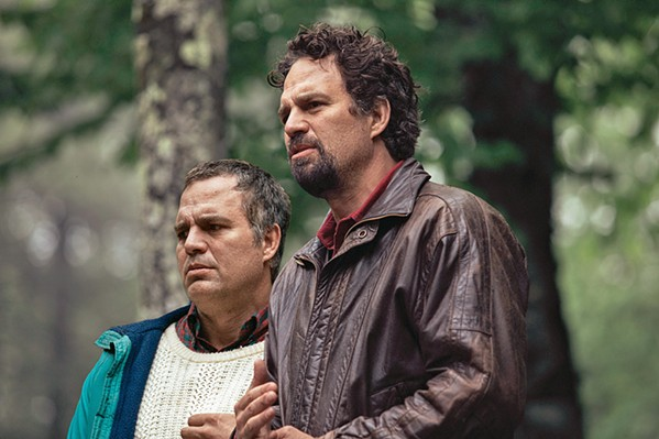 BROTHERLY LOVE Mark Ruffalo stars in the twin roles of paranoid schizophrenic Thomas Birdsey (left) and his brother Dominic, who's trying to get his brother released from a mental asylum, in HBO's mini-series I Know This Much Is True. - PHOTO COURTESY OF HBO