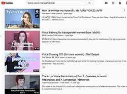 DIY? There are a lot of free tutorials online for those hoping to use their voices differently. Some of those are great, but local speech pathologist Simone Huls said professional transgender voice therapy is the safer route. - SCREENSHOT FROM YOUTUBE