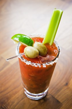 DRINK UP For the Best Bloody Mary in the county, look no further than Marisol at The Cliffs in Shell Beach. - PHOTO BY JAYSON MELLOM