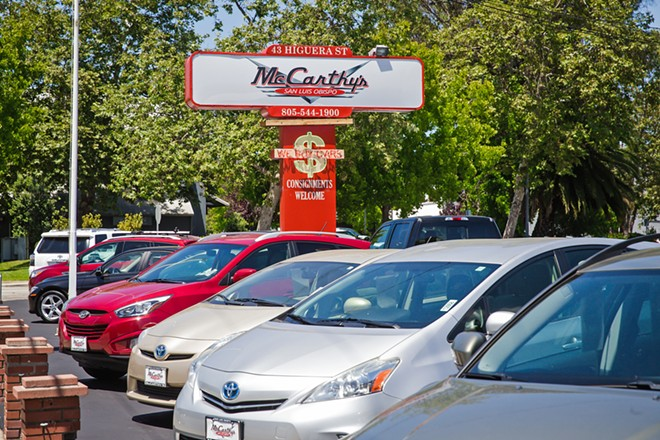 CARS FOR DAYS Everyone always agrees—McCarthy's is the spot to go if you're looking for a used car. You'll find quality, quantity, and an inventory that moves! - PHOTO BY JAYSON MELLOM