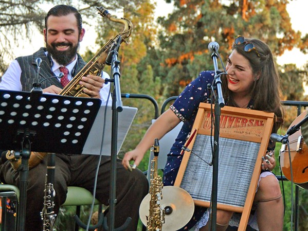 OLD-TIME JAZZ AND BLUES The Holy Crow Jazz Band will livestream a show for the Basin Street Regulars on July 26. - PHOTO COURTESY OF JENNIFER STOCKERT