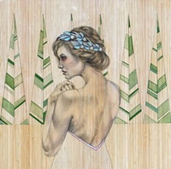 'THE PINES' This original painting by SLO County artist Lena Rushing is one of many works available during the Paso Robles Youth Arts Foundation's fundraising online auction held July 24 through Aug. 2. - IMAGE COURTESY OF LENA RUSHING
