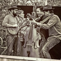 FOOT-STOMPING FUN Old-time string band the SLO County Stumblers have a terrific debut album available as a digital download, CD, and 12-inch vinyl record. - PHOTO COURTESY OF THE SLO COUNTY STUMBLERS