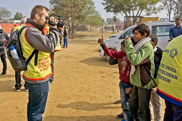 THE MAN BEHIND THE CAMERA Cal Poly student Soren Dickens documented Rotary International's polio vaccination efforts in India in January of this year. - PHOTOS COURTESY OF LAURIE EDWARDS