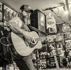 SOUL BARE Jon Bartel, pictured here at a solo show he played at The Heavy Metal Shop in Salt Lake City last summer, recently released a forlorn and potent new EP, Hell. - PHOTO COURTESY OF PATRICK CARNAHAN