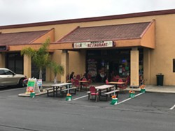 OPEN FOR BUSINESS South SLO County cities, including Grover Beach, are working to help businesses transform parking spaces and streets into outdoor dining areas amid state and county closures related to COVID-19. - PHOTO COURTESY OF EMILY MASON