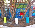 If you're looking for one of a kind graffiti art to decorate your shop with, Tommy Bright has the designs for you