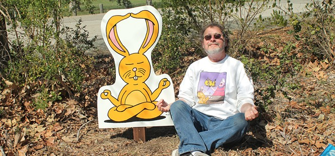 Leigh Rubin designs cartoon signs for SLO Botanical Garden, launches new show