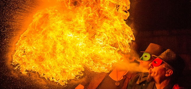 Engulfed in Flames: Local fire artists find peace in the middle of infernos