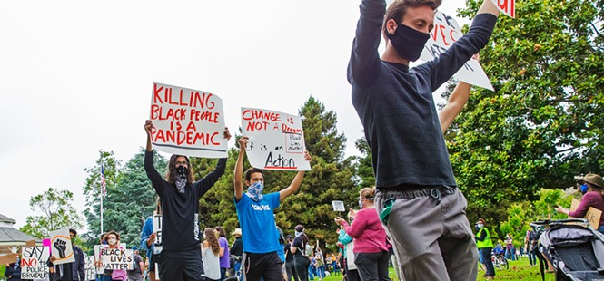 Solidarity for change: Protesters hit the streets in SLO County, advocating against police violence and systemic racism