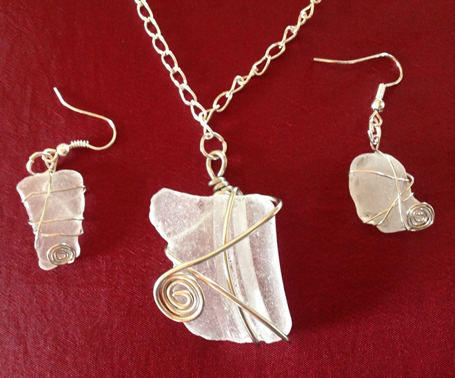 Learn how to wire wrap sea glass