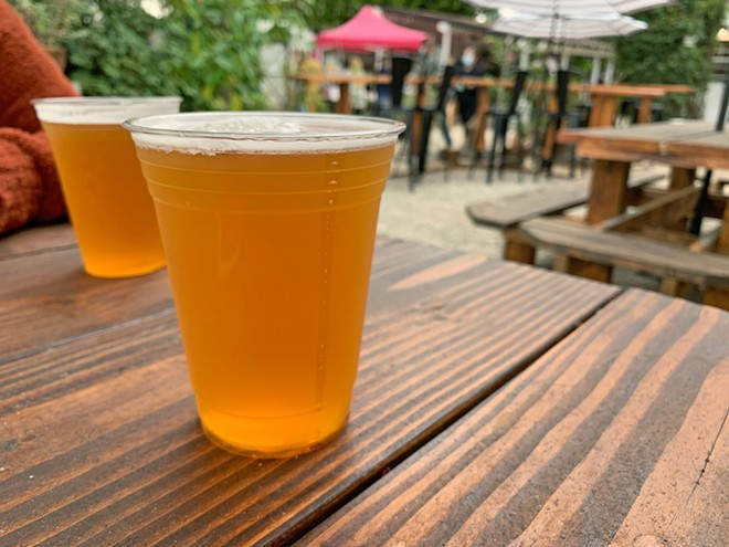 THE LITTLE THINGS Birchwood Beer Garden in Nipomo serves up simple pleasures such as Figueroa Mountain's Mosaic IPA.
