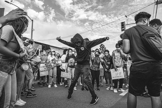 DANCING IN THE STREET You can virtually tour Richard Fusillo's new photography exhibition, We All Bleed, on the San Luis Obispo Museum of Art's webpage, where you can also hear the voices of those involved.