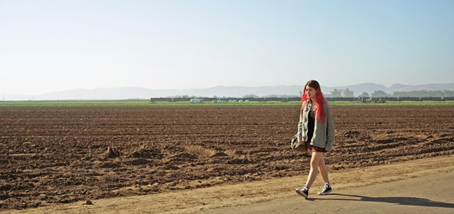 """ABBY ROAD The protagonist of Coast, Abby (played by Fatima Ptacek, Dora the Explorer, Before I Disappear), is a 16-year-old who feels """"desperate to escape the trappings of her small, coastal farming town,"""" as described in the film's official synopsis."""
