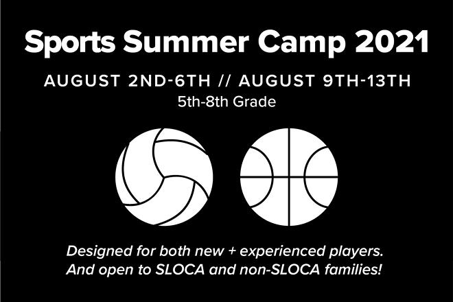 Sports Summer Camp 2021, 8/2-6, 5th-8th grade