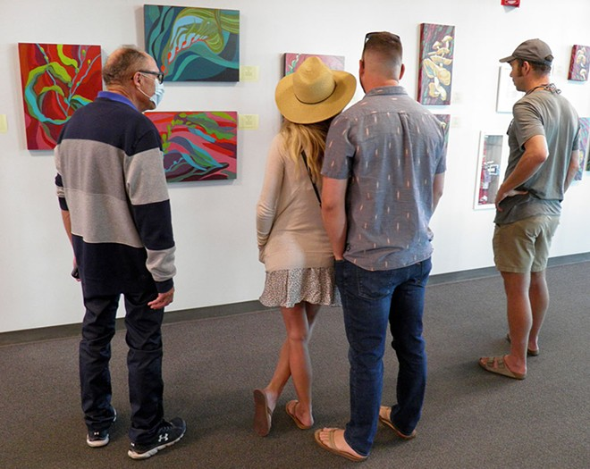 Viewers take in Featured Artist exhibit at Valley Art Gallery