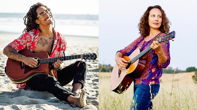 WINNER VS. WINNER Danté Marsh (left) and Ynana Rose (right) are two of the five New Times Music Awards genre category winners who will compete for Best Live Performance on Nov. 8 at SLO Brew Rock.