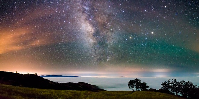 Marc Muench, Figueroa Mountain Under the Milky Way on May 26, 2015, Photograph, Courtesy the Artist
