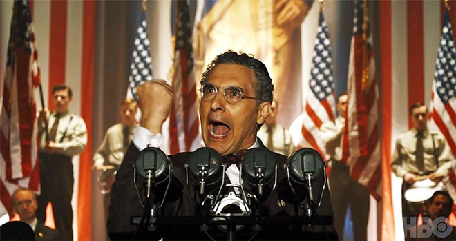 TRAITOR Rabbi Lionel Bengelsdorf (John Turturro) gives a fiery speech to keep America out of World War II despite Hitler's pogrom to kill European Jews, in the excellent HBO alternative-history miniseries The Plot Against America, based on Philip Roth's acclaimed 2004 novel of the same name.