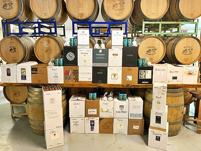 AFTER A LONG DAY Local wineries have found a way to thank the many heroes working in our hospitals by dropping off cases of wine and thank-you cards to ER workers.
