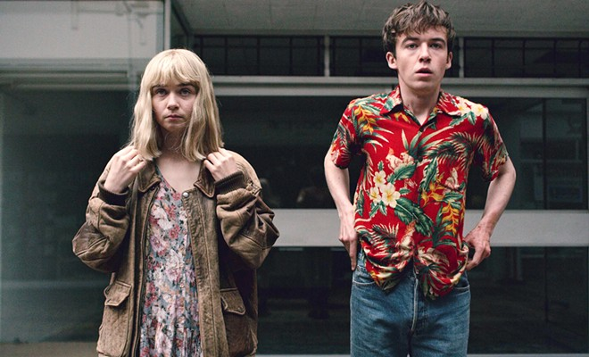 JUST KIDS In The End of the F***king World, screening on Netflix, narcissistic teenagers James (Alex Lawther, right) and Alyssa (Jessica Barden) discover what it means to be in a relationship.