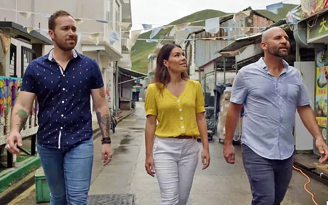 DREAM TEAM On Netflix's reality TV show Restaurants on the Edge, (left to right) chef Dennis Prescott, designer Karin Bohn, and restaurateur Nick Liberato work with restaurant owners to rebrand and rebuild their business.