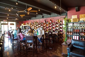 SIPPING TIME Head over to Morro Bay if you want to visit the Best Wine Bar in SLO County—STAX Wine Bar and Bistro. - PHOTO BY JAYSON MELLOM