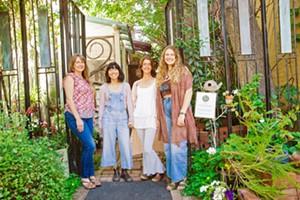 HIDDEN GEM Kirstin Sherritt, Kristen Yogi, Lucinda Kelly, and Claire Gretlein (left to right) bring the best tea around to downtown San Luis Obispo at The Secret Garden Organic Herb Shop. - PHOTO BY JAYSON MELLOM