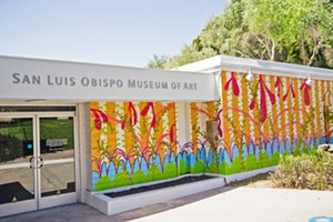 PACIFICARRIBEAN Artist Juan Alberto Negroni designed and executed the large-scale mural painted on four walls of the Best Art Gallery on the coast, the San Luis Obispo Museum of Art. - PHOTO BY JAYSON MELLOM