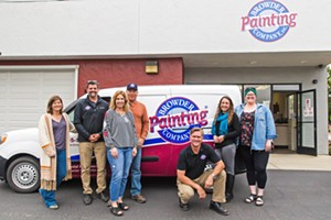 COLOR COORDINATOR Meet the painting professionals at the Best Home Painting Company in SLO County: Danielle Burk, Nick Nystrom, Jennifer Browder, Ryan Browder, Dirk Kenyon, Latia Blair, and Colleen Stefanek from Browder Painting Company. - PHOTO BY JAYSON MELLOM