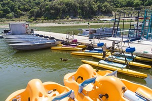 PADDLE AWAY Make like a duck and find the Best Boat Rental in SLO County by visiting the Lopez Lake Marina. - PHOTO BY JAYSON MELLOM
