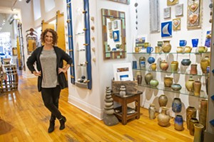 DOWNTOWN ART Hands Gallery owner Sara Vaskov has managed to steer the art gallery on Higuera Street through a recession and rising downtown rents and still snag the award for Best Art Gallery. The community thanks you! - PHOTO BY JAYSON MELLOM
