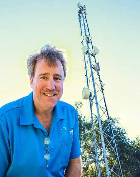 CONNECTED Arroyo Grande resident Tom Kosta founded Peak WiFi with the goal of helping rural communities access adequate wireless internet services. Now he's setting up free WiFi in public spaces for students amid the pandemic. - FILE PHOTO BY JAYSON MELLOM
