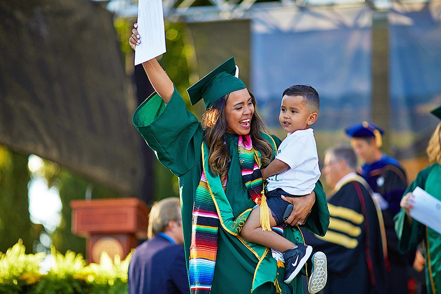 PRIORITIES To Ashlee Hernandez (pictured), a coordinator of Cal Poly's Parent and Family Programs, enabling the success of college students with children is personal. - PHOTO COURTESY OF ASHLEE HERNANDEZ
