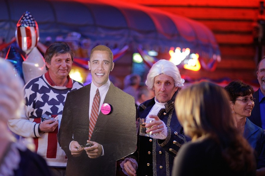 INAUGURAL BALL :  A guest dressed up as George Washington at The Graduate's Inaugural Ball. - PHOTO BY STEVE E. MILLER