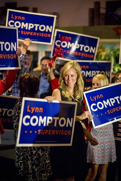 "SIGNAGE SITUATION:  On Sept. 2, the California Fair Political Practices Commission (FPPC) issued a warning letter to the campaign of Lynn Compton, a candidate for San Luis Obispo County's 4th supervisorial district. The commission found that Compton ""failed to report the value of the use of a vehicle and a trailer … as an in-kind contribution on your campaign statements."" - FILE PHOTO BY HENRY BRUINGTON"