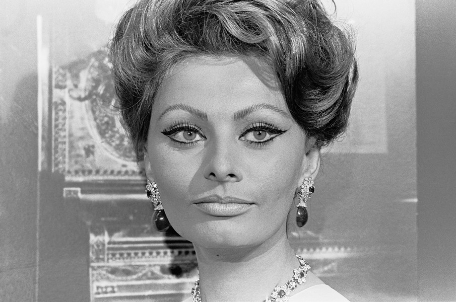 SOFIA LOREN AT THE MOMA, 1967: - PHOTO COURTESY OF SANTI VISALLI